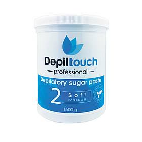 Сахарная паста для депиляции Depiltouch Professional мягкая 1600 г 87714, КОД: 302939