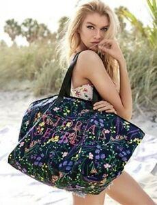 💋 Victoria's Secret Сумка Пляжная Floral Canvas Tote Bag