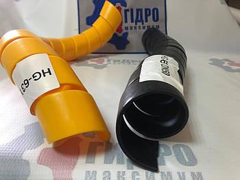 Пружинная пластиковая защита на РВД 50-63, толщина 3,5 (HG-63) (черная)