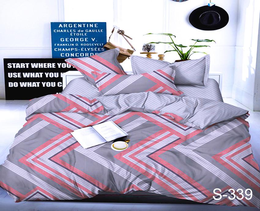 Постельное белье ТМ TAG/1.5-спальные/Сатин ТМ TAG с компаньоном S339