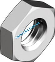 DIN 439, гайка шестигранная с фаской, низкая из нержавеющей стали