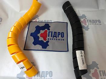 Пружинная пластиковая защита на РВД 50-63, толщина 3,5 (HG-63Y) (желтая)