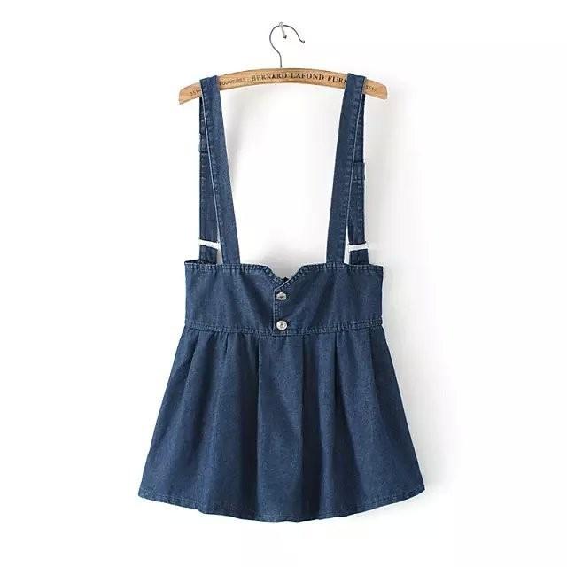 446d88be7d2 Джинсовая юбка на лямках   продажа
