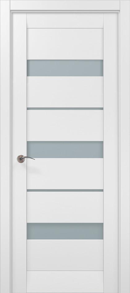 Дверное полотно 2000х810х40 Папа Карло Millenium ML-22 Белый матовый
