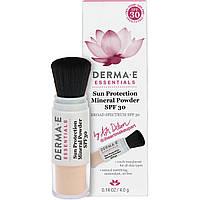 Derma E, Essentials, Пудра на минеральной основе с солнцезащитным фактором, SPF 30, 0,14 унц. (4,0 г)