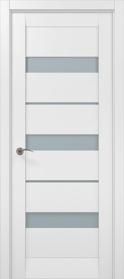Дверное полотно 2000х910х40 Папа Карло Millenium ML-22 Белый матовый