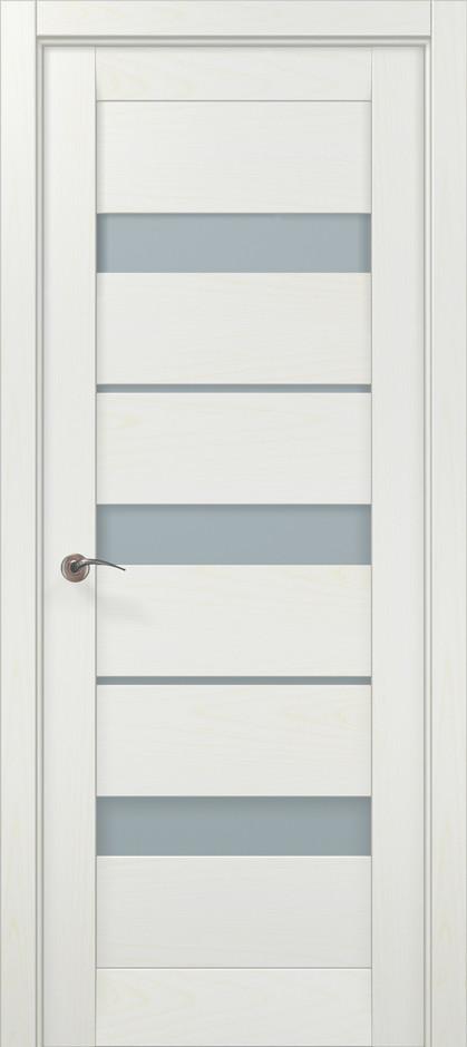 Дверное полотно 2000х610х40 Папа Карло Millenium ML-22 Белый ясень