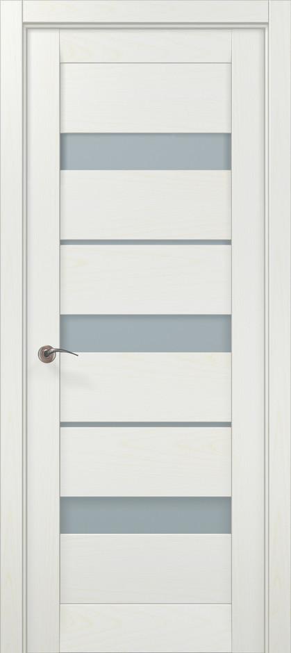 Дверное полотно 2000х810х40 Папа Карло Millenium ML-22 Белый ясень