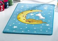 Коврик в детскую комнату c собачкой на месяце  MOON Confetti