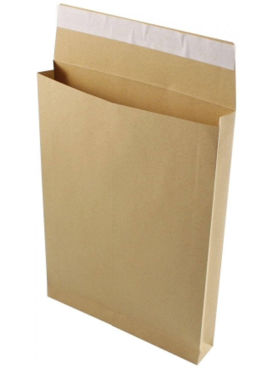 Почтовый конверт с расширением E4, 280x400x40 мм, 143 гр/кв.м, Польша