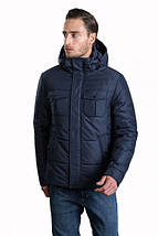 Зимняя мужская короткая куртка Hermzi синяя 48-58р, фото 2