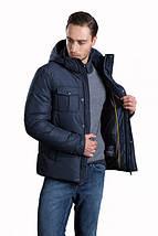 Зимняя мужская короткая куртка Hermzi синяя 48-58р, фото 3