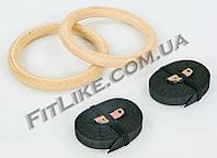 Кольца гимнастические для кроссфита деревянные CrossFit Pro Rings