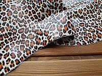 Кожа натуральная с цветным принтом Леопард цветной т.1,1-1,3мм