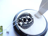 Серебряное кольцо с черным камнем Водевиль, фото 3