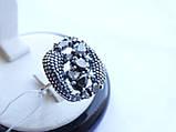 Серебряное кольцо с черным камнем Водевиль, фото 2