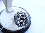 Серебряное кольцо с черным камнем Водевиль, фото 4