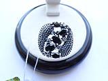 Серебряное кольцо с черным камнем Водевиль, фото 6