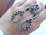 Серебряное кольцо с черным камнем Водевиль, фото 8