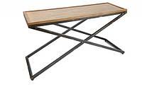 Кавовий Журнальний столик у стилі LOFT (Table - 549), фото 1