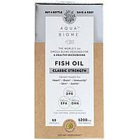 """Рыбий жир """"Аква биом - классическая сила"""" от Enzymedica, лимонный вкус, 60 гелевых капсул, фото 1"""