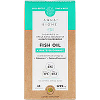 "Рыбий жир ""Аква биом"" от Enzymedica, лимонный вкус, 60 мягких таблеток, фото 1"