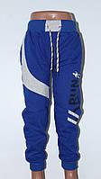 Спортивные штаны подростковые для мальчиков 13-16 лет, синего цвета