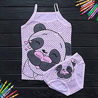Комплект дитячий Donella з пандою рожевий для дівчинки на 4 / 5 років | 1 шт.
