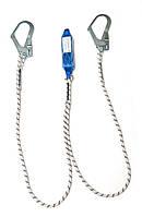 Двойной строп - шнур с амортизатором мод. 1МСШ22 (два больших карабина)