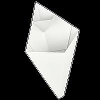 Упаковка Конверт-Конус для Картофеля Фри Белый 25шт/уп