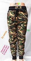 Спортивные штаны подростковые для мальчиков камуфляжные 8-12 лет, зеленого цвета