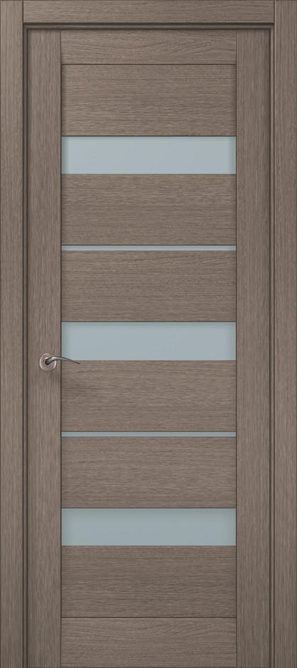 Дверное полотно 2000х610х40 Папа Карло Millenium ML-22 Дуб серый брашированный