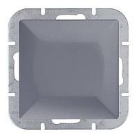 Выключатель одноклавишный проходной Abex Perla 250V/10A антрацит (WP-5P-ANT)
