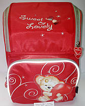 Рюкзак ортопедичний XS, Sweet & Lovely, Dr.Kong DKS001 дитячий червоний