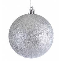 Куля ,d - 10 см срібний глиттер
