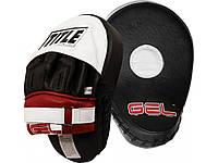 Лапы для бокса кожаные TITLE Gel Contoured Punch Mitts (Тайтл), фото 1