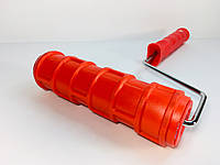 Валик структурный 60x180мм красный (размер кирпича на стене 90х30мм)