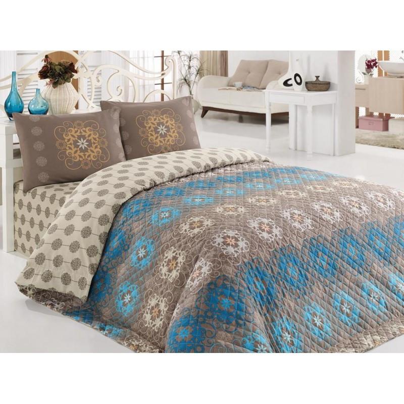 Покрывало 200х220 с наволочками на кровать, диван Аметист