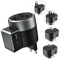 Сетевое зарядное устройство адаптер Original Hoco AC4  2USB Port (US, UK, EU)