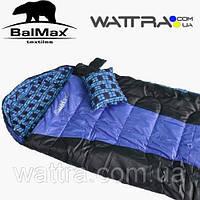 """⭐ Спальный мешок (-3 °C) """"Balmax (Аляска) Elit series"""", одеяло с подголовником"""
