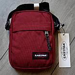 Мужская сумка мессенджер Eastpak THE ONE Country Beige EK04519O сумка через плечо. Живое фото. Реплика, фото 9