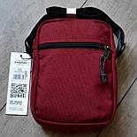 Мужская сумка мессенджер Eastpak THE ONE Country Beige EK04519O сумка через плечо. Живое фото. Реплика, фото 8