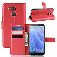 Чехол Luxury для HTC Desire 12s книжка красный