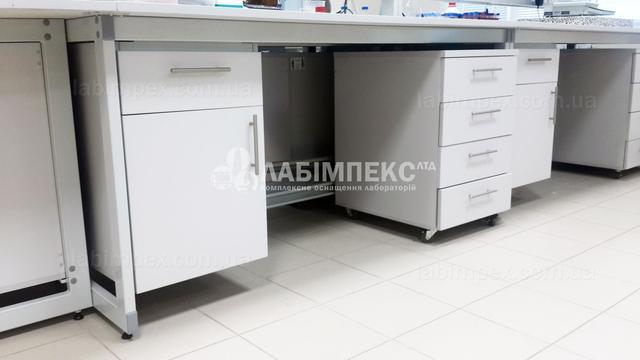 Стол лабораторный пристенный СЛП-3.061.05, усиленный каркас