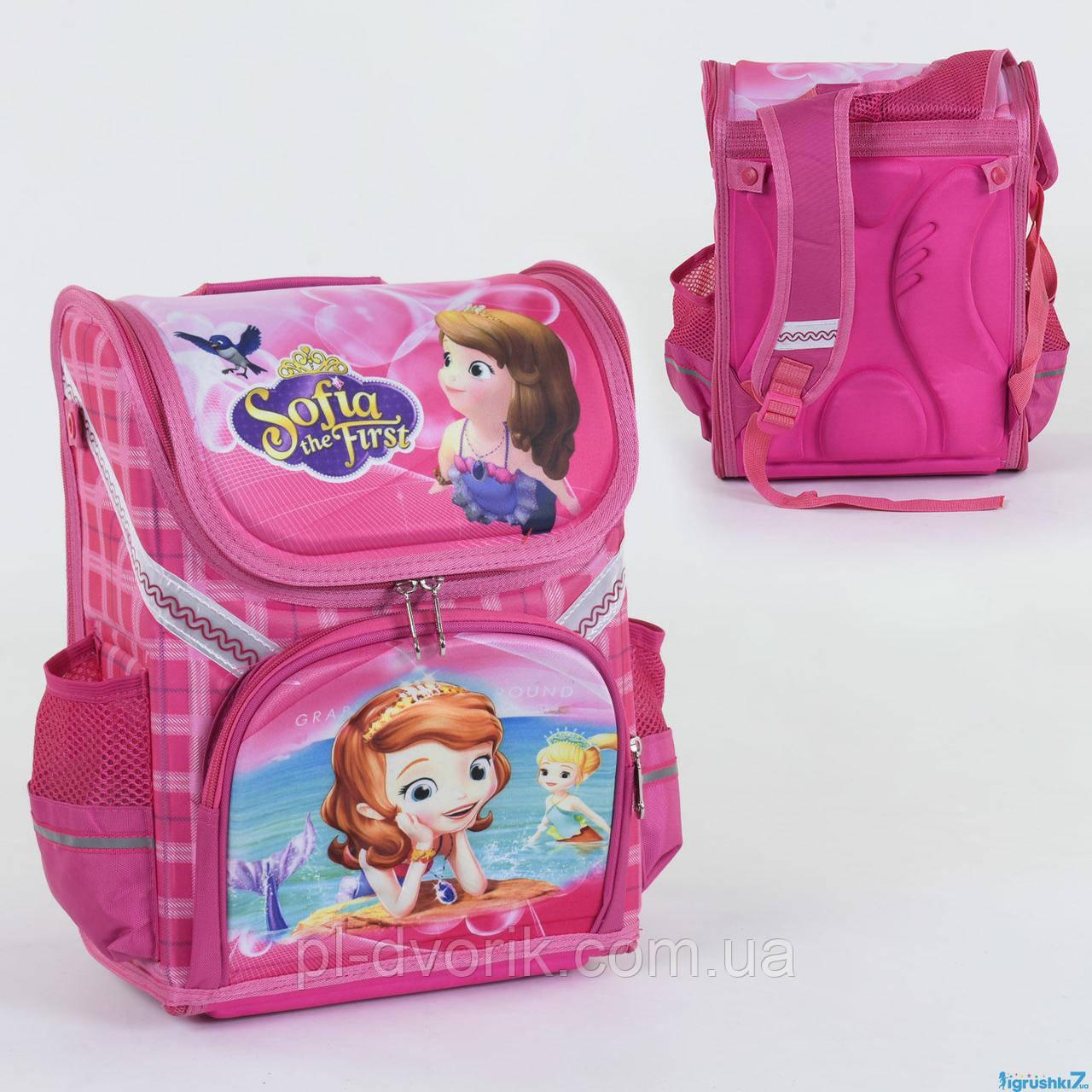 Рюкзак школьный каркасный С 36184 (50) 1 отделение, 3 кармана, спинка ортопедическая, 3D изображение  Размер у