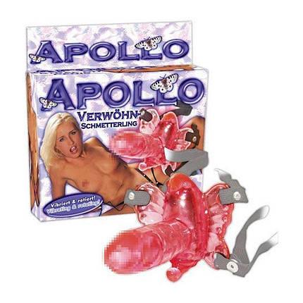Вибробабочка с вагинальным отростком Apollo Strap On от Orion, фото 2