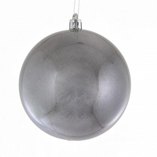 Куля ,d - 10 см  сірий графіт, перламутр