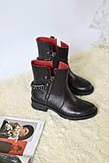 Кожаные ботинки с цепью Atomio Lardini, фото 2