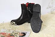 Кожаные ботинки с цепью Atomio Lardini, фото 7