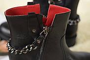Кожаные ботинки с цепью Atomio Lardini, фото 9